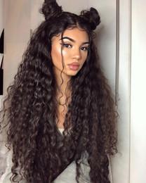 parrucca media marrone capelli Sconti Parrucche frontali in pizzo per capelli umani 10A Parrucche frontali in pizzo con onda profonda capelli brasiliani Cappellino svizzero in pizzo di medie dimensioni Nodi sbiancati