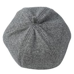 rote barett militär Rabatt Fashion-2019 japanische neue Herbst-Winter-Hüte Weinlese-Twill-Barett-Frauen-Kürbis-Kappen-Kopfbedeckungs-Barette