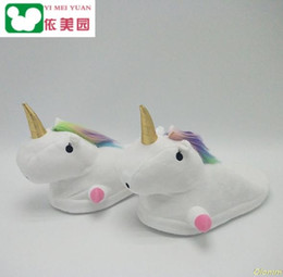 ccbf1e2d825 24 style Plush Unicorn Slippers Women Girls Unisex Home Indoor Chausson  Licorne Shoes Bedroom Fluffty Warm Winter Soft Grown inexpensive warm winter  ...
