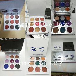 Paleta de moda on-line-Nova maquiagem de alta qualidade da paleta da sombra 9 moda cor 6 estilos paleta de sombras Epacket frete grátis