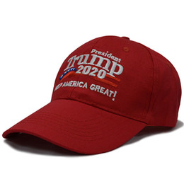 hysteresenhasser rosa Rabatt Präsident Trump 2020 bestickte Baseball-Mützen Männer Frauen machen Amerika groß wieder Mode Sport Cap AAA253