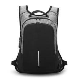"Sacolas de laptop suíças on-line-Crossten Anti-roubo USB externo carga Laptop Bag Waterproof 16"" Travel Bag suíço Estilo RucksackMX190903 Laptop Backpack Schoolbag"