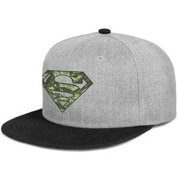 cap superman gold Coupons - Fitted Womens Mens visor caps Superman Digital Camo Logo S Shield flat Brim Hip Hop Snapbacks hats Hipster mens hat styles