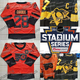 2019 Stadium Series Pittsburgh Penguins Philadelphia Flyers Jersey Sidney  Crosby Phil Kessel Carter Hart Claude Giroux Hockey Jerseys 9b8d1b8b7