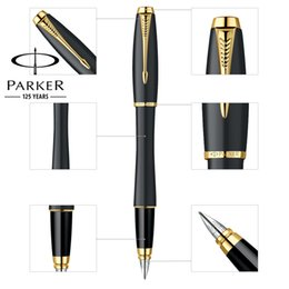 oficina de oro Rebajas Empresa Parker Urban Pluma Estilográfica Oro / Plata Clip Matte Black Pen oficina Escuela Escritura Suministros de papelería
