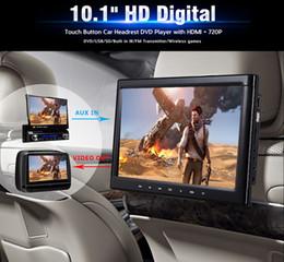 Canada Lecteur DVD de voiture avec écran HD 10,1 pouces pour appuie-tête à pince avec contrôleur dvd et fonction de jeu noir Offre