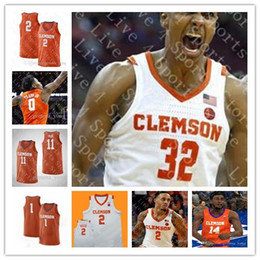 camisola do basquetebol 4xl baratos Desconto Baratas do costume Clemson Tigers NCAA College Basketball 2 Marcquise Reed 4 Shelton Mitchell 14 Elias Thomas 25 Aamir Simms Sewn Jersey Hot Sale