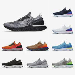bagliore bianco crema Sconti 2019  epic React Mens Running Shoes Cookies And Cream Volt Glow Mowabb Triple Black White Fusion Men Women Outdoor trainers Sports Sneakers