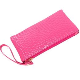 ladies small wallet Coupons - Fashion Women Wallets Crocodile Zip Coin Purse Clutch Small Wallet for Girls and Ladies Leather Coin Purse Femininas *30
