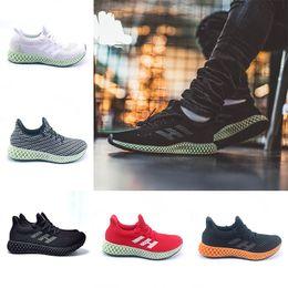 best loved 8b256 9e114 Adidas Nouveau Futurecraft 4D Runner Chaussures De Course Pour Hommes  Femmes Frêne Vert Triple Noir Blanc Argent Hommes Designer Trainer Sport  Sneaker ...