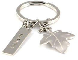 100 Pz / lotto Creativo casa di moda Maple Leaf Keychain Portachiavi Romantico Portachiavi Regali Promozionali Canada Portachiavi Regalo HYS91 da case di foglie di acero fornitori