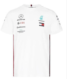 2019 mochilas motociclistas 2019 de Fórmula 1 F1 Mercedes-Benz AMG equipe T-shirt Hamilton / Bottas Team Edition de secagem rápida de secagem rápida Top manga curta