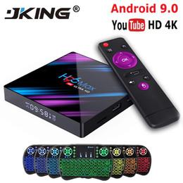 H96 MAX RK3318 Smart TV Box Android 9.0 4GB 32GB 64GB Media player 4K Google Voice Assistant Netflix Youtube H96MAX 2GB16GB de Fornecedores de caixa de televisão quad core 4.4