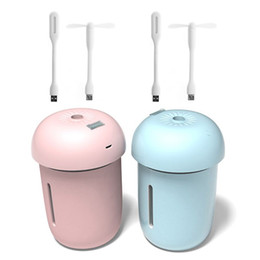 Mini cogumelo noite luz on-line-Mini Mushroom carro purificador de ar Umidificador difusor com USB Fan LED Night Light