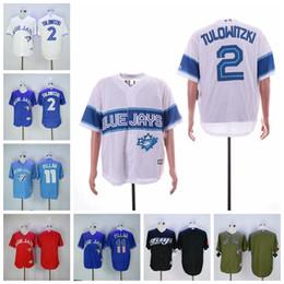 rote blaue jays jersey Rabatt Herren Toronto Tulowitzki Trikot Blue Jays Kevin Pillar Rot Weiß Blau Weiß Alternate Flexbase Trikot günstig im Angebot