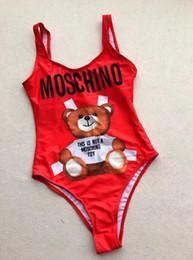 Um pedaço swimsuit bandagem on-line-2019 MOSC Pequeno Urso One Piece Marca Designer Bikini Swimwear Para As Mulheres Moda Carta GG Swimsuit Bandage Sexy Maiô Maillot De Bain
