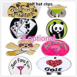 neuheit golfbälle Rabatt Mounchain Golfball Clip einzigartiges Muster Markierungen Golf Cooler Marker Cap Clip