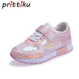 9417b7b85b0 Baby Toddler Girl Boy Mermaid Sequin Glitter Sneakers Little Kid Fashion  Casual Trainer Children Spring Pink Black School Shoes