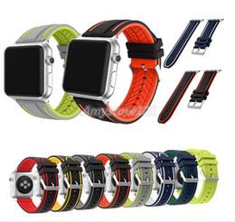 Banda de reloj de silicona para Apple Watch 38mm 42mm Banda de correa Funda protectora para iWatch 1 2 3 4 Series Sports Band desde fabricantes