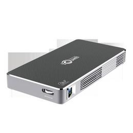 2019 billige mini lcd projektoren Hochwertiger TOUMEI C800 Paket Super Slim Android 7.1 Mini Projektor mit 100 Ansi Lux 16G ROM Funkprojektion 4200 mAh Mini LED Beamer