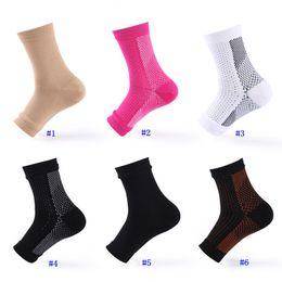 Calcetines de tobillo de apoyo online-Recuperación de la manga de compresión del pie Manga del tobillo Manga del pie Los mejores calcetines de soporte del talón del tobillo Foot Ange Guarding Plantar Fascia MMA2293