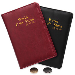 coin collection album Coupons - 2019 New 10 Pages 120 Pockets PU Leather Waterproof World COIN STOCK Album Coin Collection Book Vertical Style