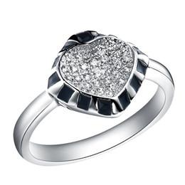 Anelli unici per i disegni delle donne online-Micro inserto Gioielli in argento Anello di design unico Anello Vari colori Anelli J216 per fidanzamento gotico femminile