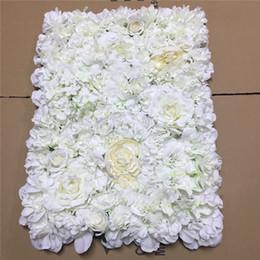 2019 cryptage gratuit 40 * 60cm mur fleur soie hortensia entrelacs mur cryptage floral fond artificiel fleurs stade de mariage créatif livraison gratuite cryptage gratuit pas cher
