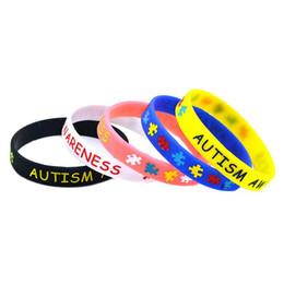 bewusstseinsschmucksachen Rabatt Autism Awareness Silikon Armband Gummi Armbänder Tinte gefüllt Silikon Armbänder Armbänder für Geschenke Schmuck Zubehör MMA1626