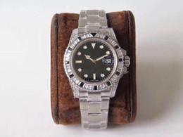 Стальная обработка онлайн-GS montre DE luxe: 40 мм. Часы с бриллиантами из стали 904L, верхняя Seagull 2836, автоматическая машина Topspin мужские часы дизайнерские часы