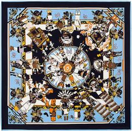 Canada Foulards carrés de haute qualité châles, marque de luxe H lettre Les girafes imprimer foulard en soie sergé pour femmes bandeau 130 cm * 130 cm supplier large square women scarves Offre