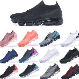 2019 Summer New Style Fly 2.0 Zapatos para correr Nike Air Vapormax Flyknit 2.0 para hombres y mujeres Tamaño 36-45 Negro Blanco desde fabricantes