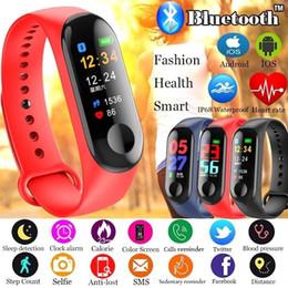 M3 MI3 Fitbit için Akıllı Bilezik Spor Izci ile Kalp Hızı Saatler XIAOMI APPLE Perakende Kutusu ile İzle Renkli LCD Ekran supplier smart watch retail box nereden akıllı saat perakende kutusu tedarikçiler