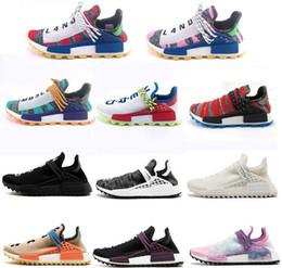 Human Race percorso Hu x Pharrell Williams Scarpe Running Pack solare Afro Holi Blank Canvas Mens formatori Donne Sport Sneaker da scarpe da lavoro casual uomini fornitori
