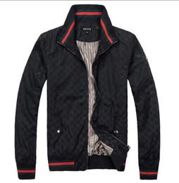 Простые куртки мужчины онлайн-Мужская куртка конструктора куртка ветровка Hoodie Zipper WindbreakГуччиженщины и мужские Brand New Простые Твердые Вершины Половина Молнии