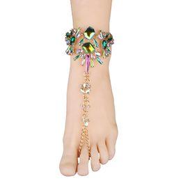 Bracelets de cheville pour dames en Ligne-Factory Outlet Lady alliage diamant exagéré cheville boutique punk série explosion éclater mode gros collier chaud