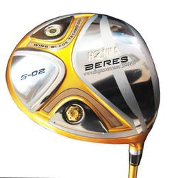 golfe honma Desconto Novos clubes de Golfe HONMA S-02 driver 9.5 ou 10.5loft 4star Golf driver Grafite do eixo R ou S eixo de Golfe Frete grátis