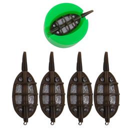 Plomo 5 unids / set 15 24 34g 40g Método en línea Alimentador Con Molde de cebo molido Carpa de pesca Fundición Plomo Plumón Cebo Titular Lanzador Conjunto desde fabricantes