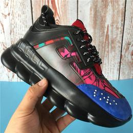 Caoutchouc rond noir en Ligne-2020 réaction de chaîne de luxe chaussures de marque hommes femmes baskets de neige léopard noir blanc maille caoutchouc cuir mode femmes chaussures de sport 36-45