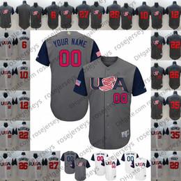 2112c1973 Custom USA WBC Gray White Jersey 2017 World Baseball Classic  7 Christian  Yelich 10 Adam Jones Any Name Number men women youth kid cheap adam jones  jersey