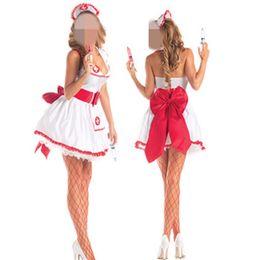 trajes de fantasia Desconto Festa Fantasia Sexy Nurse Costume Flirting Mulheres equipamento de Halloween Fantasias Womens Role Play Custums Mulheres Cosplay