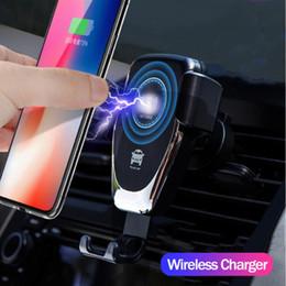 Argentina Cargador inalámbrico para automóvil 10W Cargador inalámbrico rápido Montaje en automóvil Ventilación de aire Diseño de gravedad Soporte para teléfono Compatible para ip X todos los dispositivos Qi supplier wireless chargers Suministro