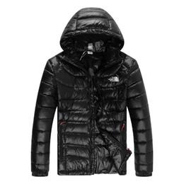 2019 parka slim pour hommes Marque mens hiver de marque NF pour hommes Parkas mode couleur unie chaud slim fit duvet de manteaux manteaux parka slim pour hommes pas cher