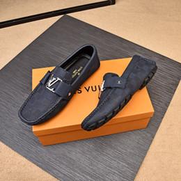 Chaussures douces et confortables en Ligne-Haute Qualité Hommes Chaussures Doux Mocassins Mocassins De Luxe Marques Designer Hommes Appartements Confortable Conduite Casual Chaussures Hommes Baskets Chaussure Homme