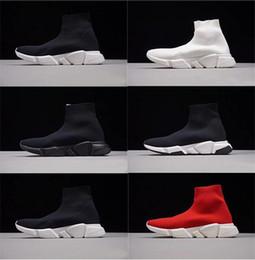 Canada 2019 New Mens casual chaussures Paris Célèbre luxe marque chaussure avec semelle en texture noir blanc Top Qualité designer Chaussette Chaussures pour femmes taille 36-47 cheap texture canvas Offre