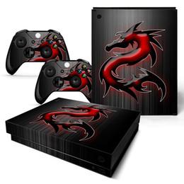 Cubiertas de la consola xbox one online-Dragon Fashion Style Xbox One X Skins para Royale Full Covering Game Theme Anime Xbo X Consola protectora Controlador del sistema