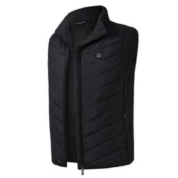 2019 impressão de vidro barato Aquecida elétrica Vest Homens Mulheres aquecedor USB Tactical Colete Quente térmica Pesca Jacket Caça Pedestrianismo Vest Inverno aquecida