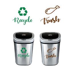 autoadesivo di riciclaggio Sconti e segno Decalcomanie Riciclare e firmare decalcomanie, cestino può riciclare verde Adesivo in vinile Deocr, Trash Logo Decal