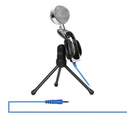 2019 enregistrement d'ordinateur portable 3.5mm Filaire Mikrofono USB Microphone À Condensateur Jeu Microphones Enregistrement Sonore Mic Pour Ordinateur Portable PC promotion enregistrement d'ordinateur portable