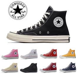 Scarpe da ginnastica di pattino della tela di canapa bianca online-Black white 1970s Canvas casual shoes skateboard Men women High Classic Skate Sneakers Converse shoes converse chuck taylor